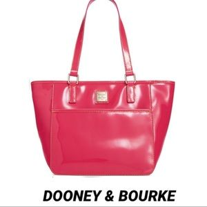 DOONEY & BOURKE LARGE PATENT LEATHER SALEM TOTE